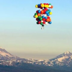 Chair With Balloons Stack Chairs Cheap Man Floats 193 Miles Using Us News Weird Next Story In Vehicular Weirdness