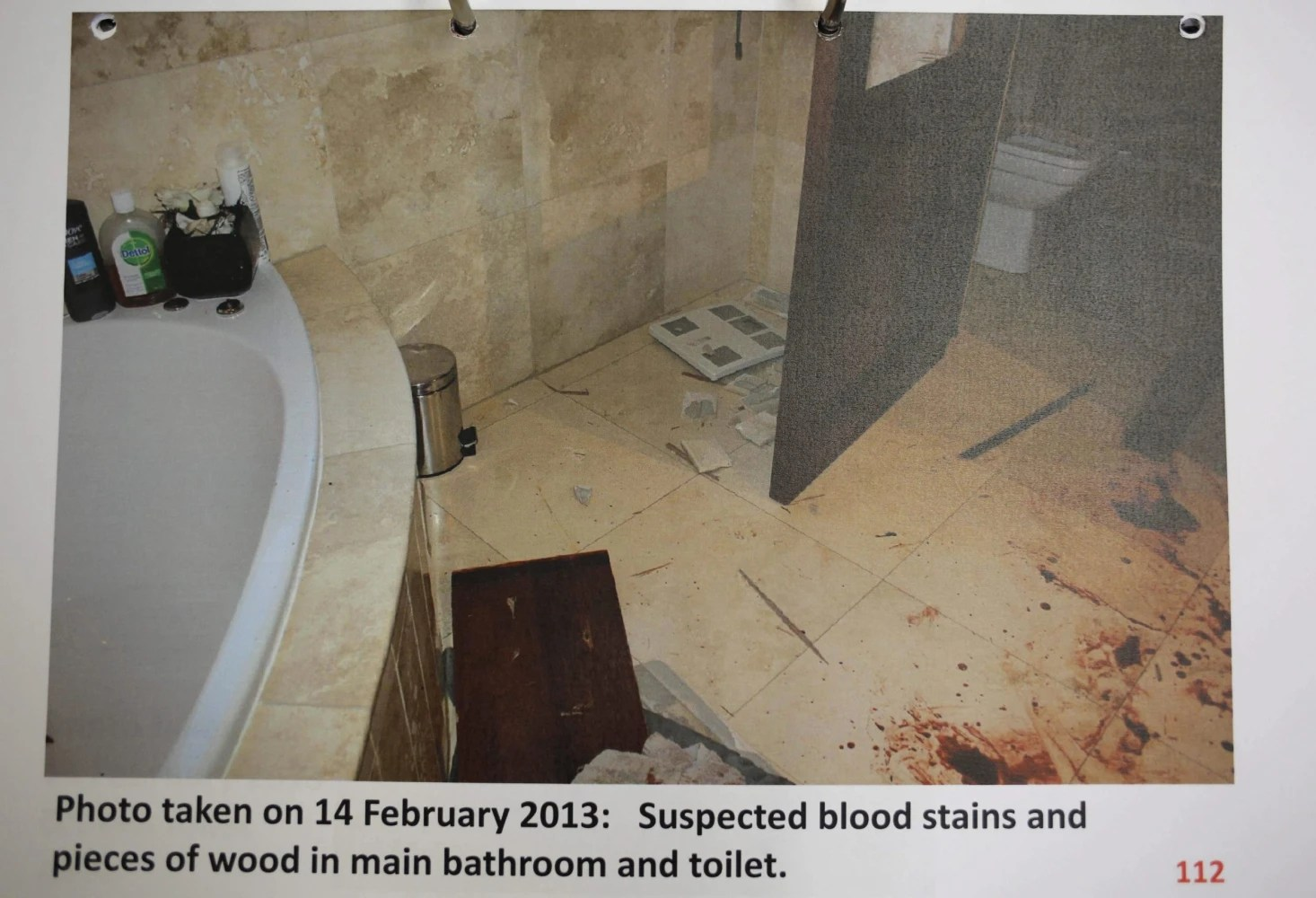 Evidence Photo Shows Blood Splattered Pistorius At Scene