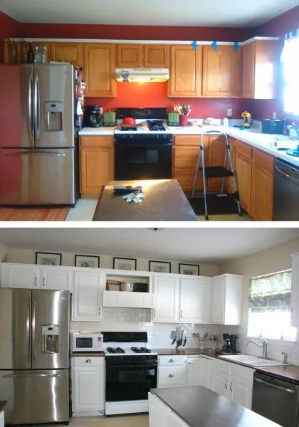 inexpensive countertops for kitchens commercial kitchen faucet see what this looks like after an $800 diy ...