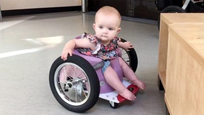 When these parents couldnt find a wheelchair for their