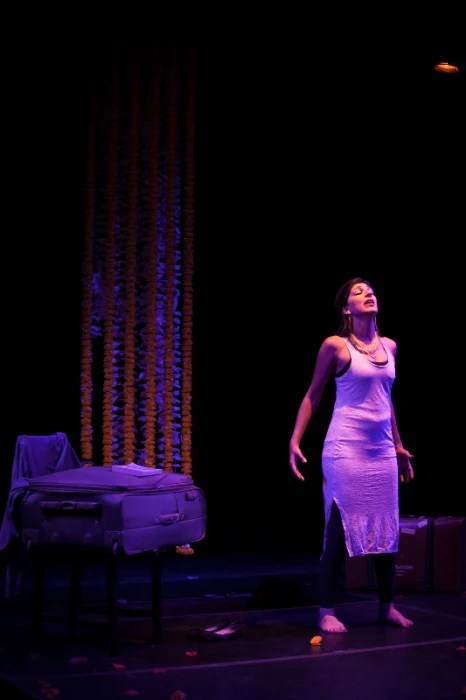 "Minita Gandhi performs her first play, ""MUTHALAND."""