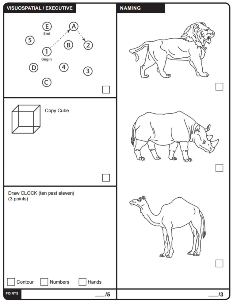 What's the Montreal Cognitive Assessment mental test Trump