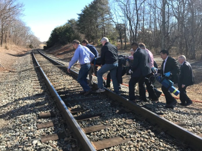 Image: Virginia train crash scene