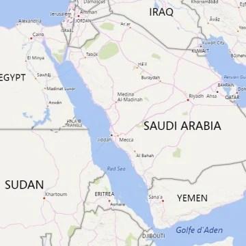 Image: Map showing Eritrea, Sudan, Egypt, Israel
