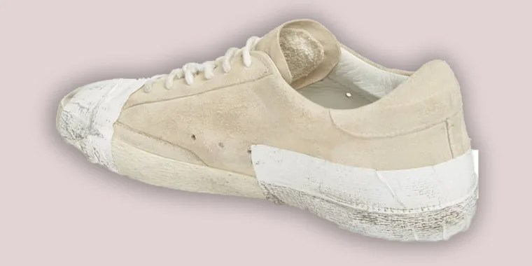 golden goose taped sneakers