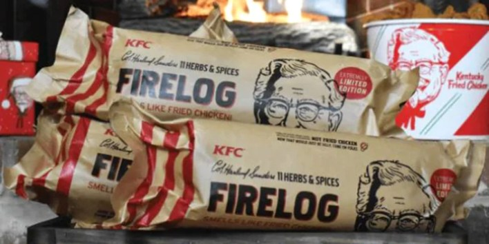 KFC selling chicken-scented fire log