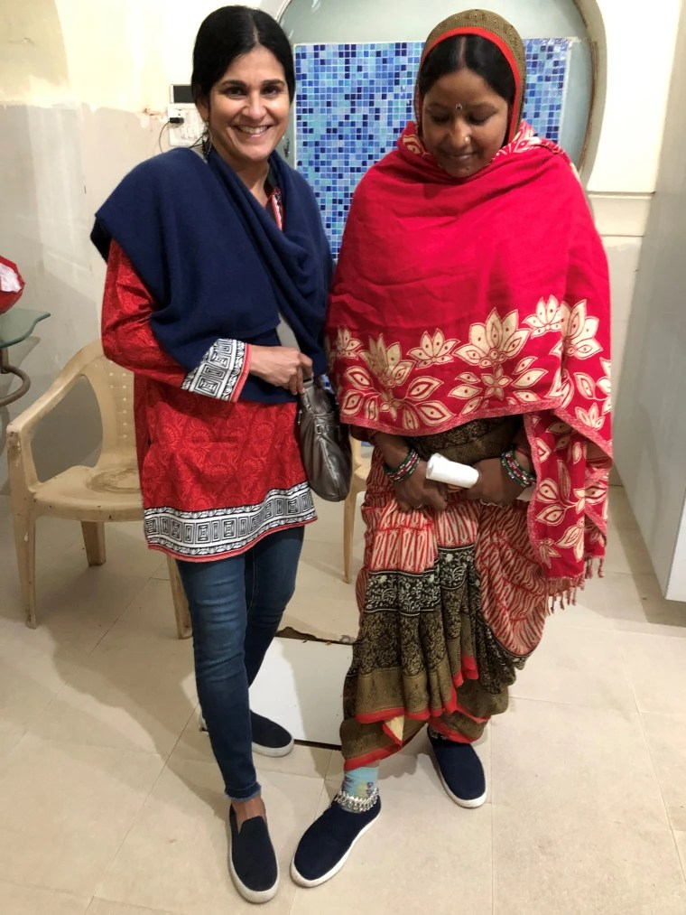 This woman, who worked at the Amer Fort, bonded with me over our matching shoes.