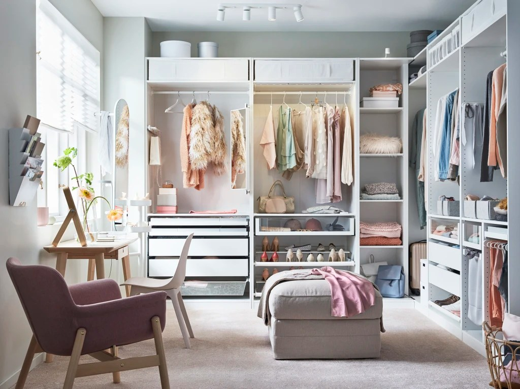 an ikea closet system