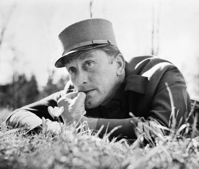"Image: Kirk Douglas films a scene from ""Paths of Glory"" near Munich, Germany"