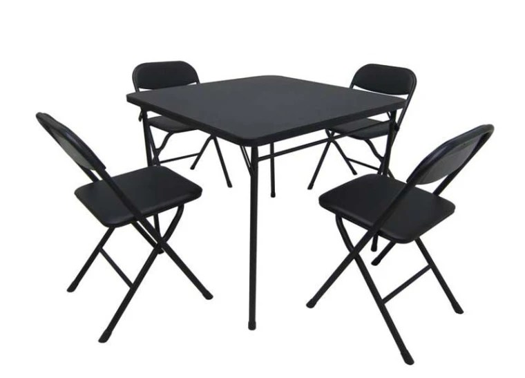 card table and chair set retro leather footstool wal mart recalls sets after finger amputations
