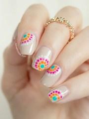 diy summer nail art design colorblocked