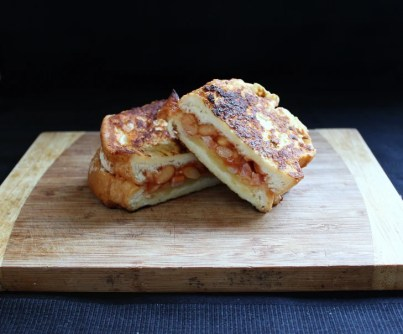 Baked Bean French Toast Sandwich