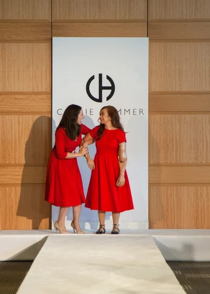 Carrie Hammer and Karen Crespo at Hammer's New York Fashion Week show Friday.