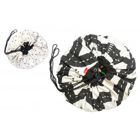 sac de rangement et tapis de jeu circuit eclair