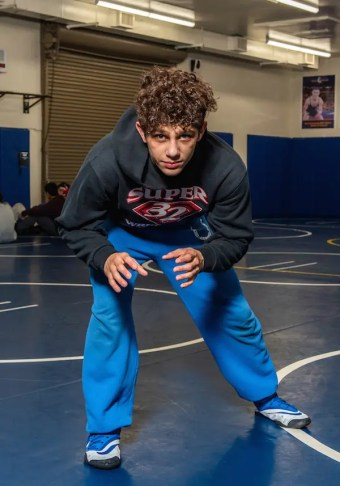 The Gilroy Sr. wrestling sensation, Chase Saldate bags a new Stetson after taking the Doc Buchanan Tournament championships.