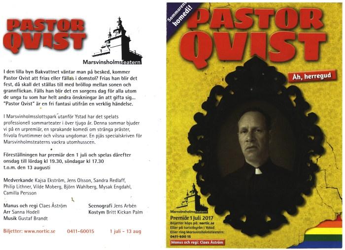 Erbjudande om Pastor Qvist