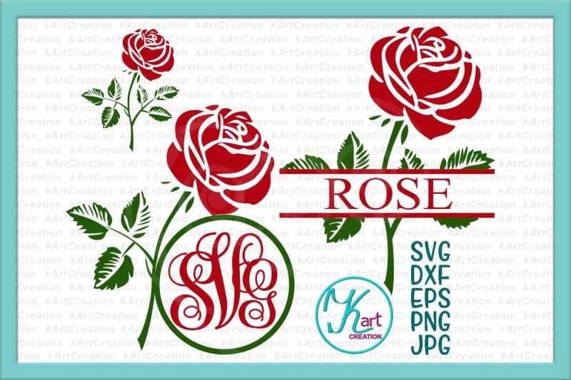 free rose monogram svg