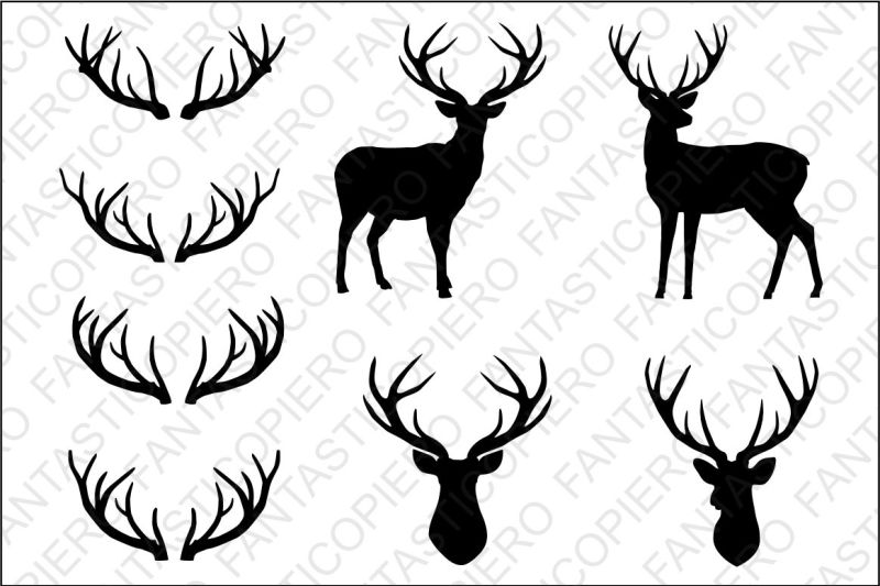 Download Free Deer, deer head, antlers SVG files for Silhouette ...