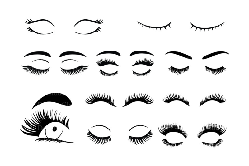 Eyelashes SVG, eyelash svg files for Silhouette Cameo and
