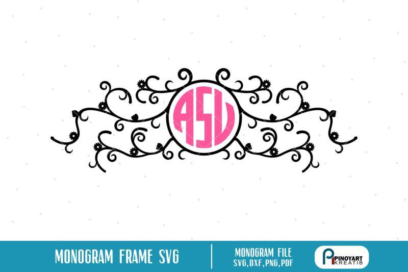 Download monogram frame svg, monogram svg, monogram svg file, svg ...