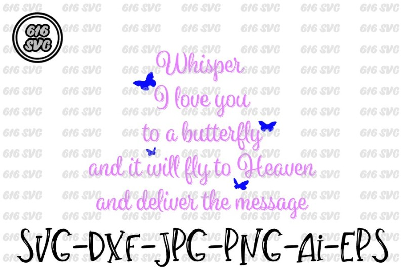 Download Whisper I love you to a butterfly SVG, DXF, PNG, Ai, JPG ...
