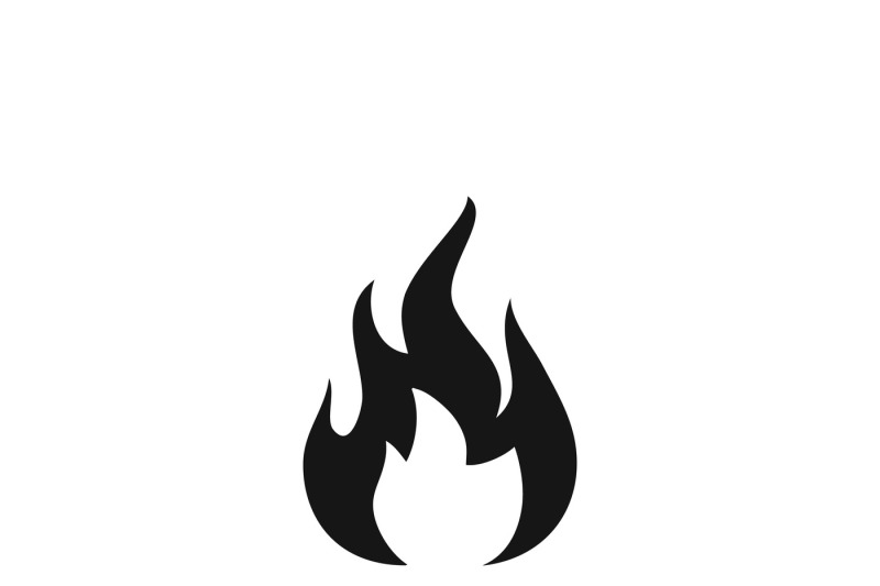 Fire sign, flammable wildfire or hot vector icon By
