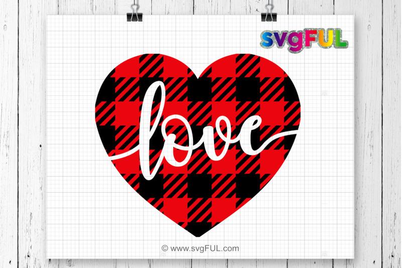 Download Valentine SVG, Plaid heart svg, Valentines Day SVG, Love ...