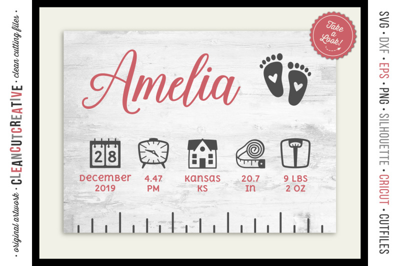 baby birth stats ruler
