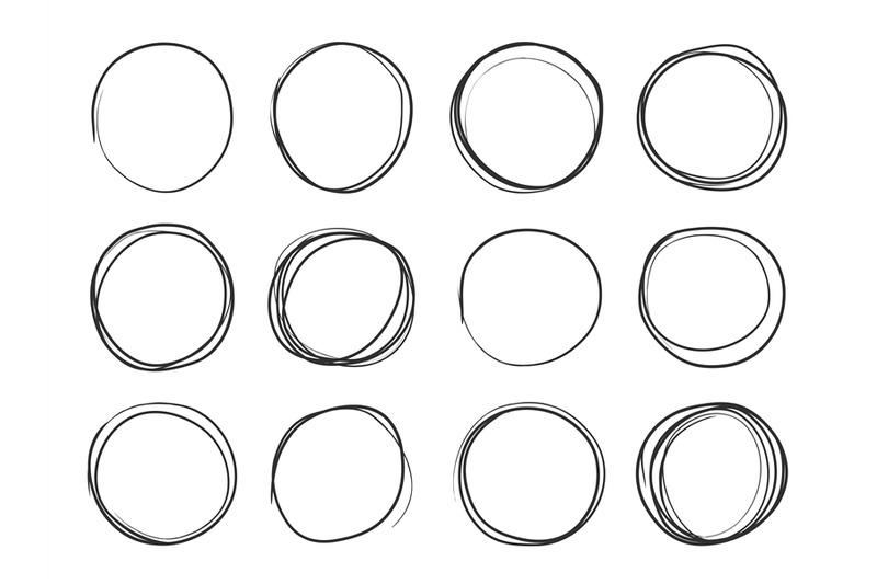 hand drawn circles round
