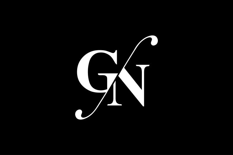 gn monogram logo design