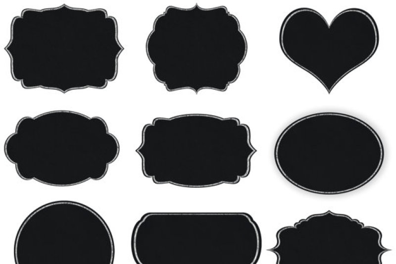 chalkboard tags clipart by