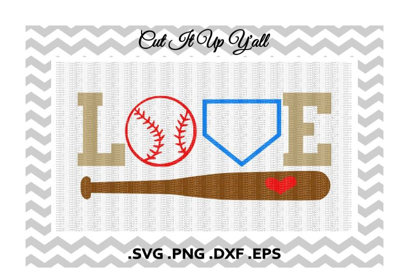 Download Free Love Baseball Svg, Png, Eps, Dxf, Cutting/ Printing ...