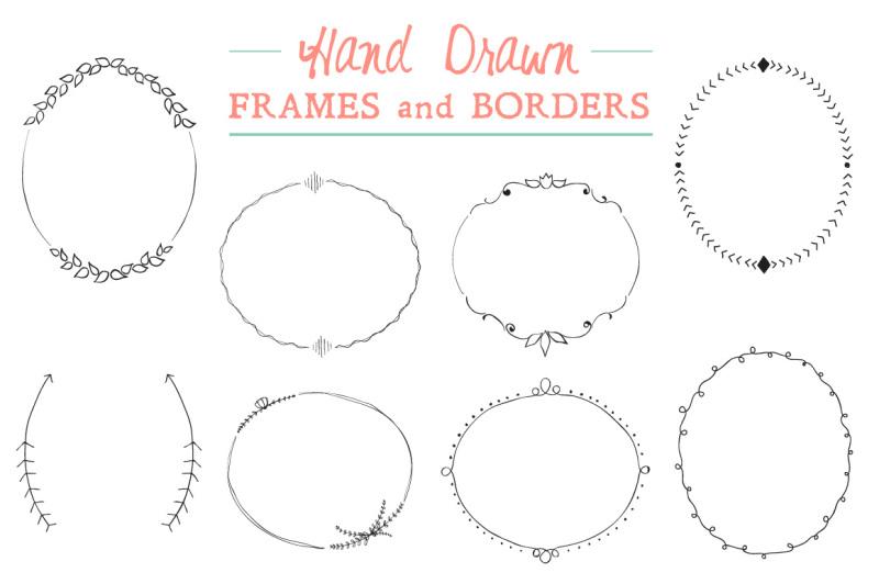 Elegant Hand Drawn Frames and Borders By Fathima's Studio