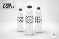 Download Clear Water Bottle Mockup Yellowimages