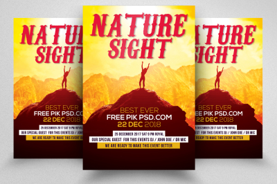Download 4 Poster Mockup Psd Yellow Images