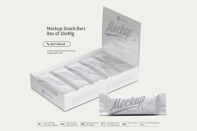 Download Glossy Metallic Snack Bar Mockup Yellowimages