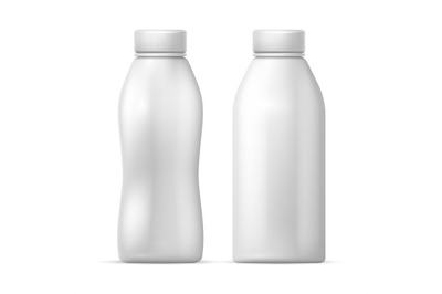 Download 8 Pack Matte Dairy Bottle Mockup Front View Yellowimages