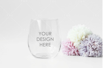 Download Clear Bottle With Pink Wine Mockup Yellowimages