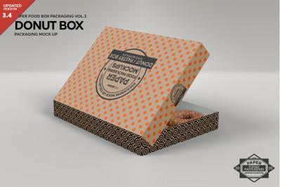 Dozen Donut Box Packaging Mock Up PSD Mockup Template