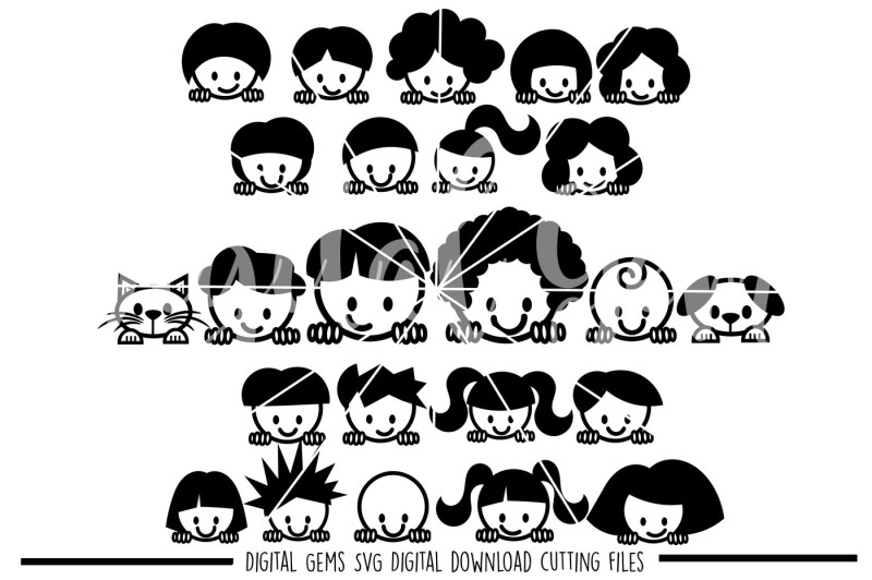 Peek a boo People SVG / PNG / EPS / DXF Files By Digital