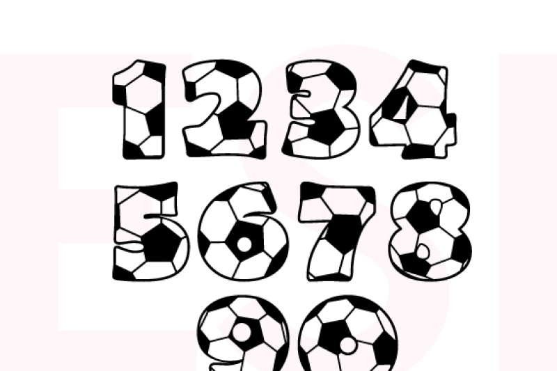 Download Sports - Soccer/Football Numbers - SVG, DXF, EPS - Cutting ...