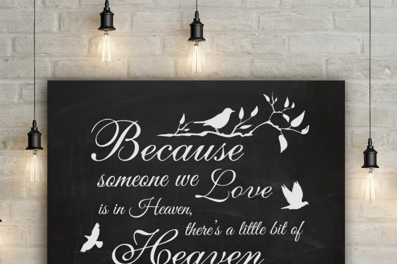 Download Because someone we love is in Heaven - SVG By BlackCatsSVG ...