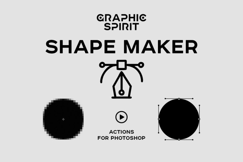 Path & Shape Maker for Photoshop By GraphicSpirit