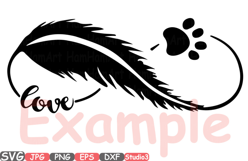 Download Pet Infinity Love Silhouette SVG heart Valentines puppy ...