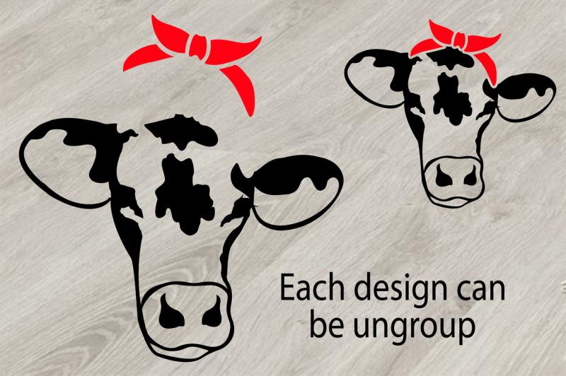 Free Bandana Cow Files Svg