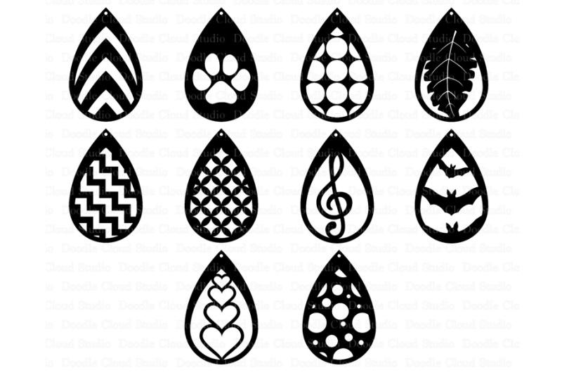 Download Teardrop Earrings SVG, Pendant svg, Earring template cut ...