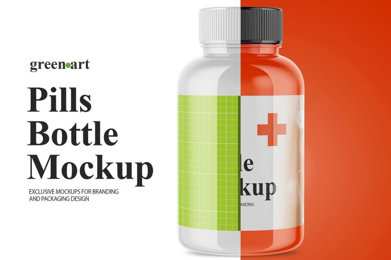 Download Flat Pills Bottle Mockup Yellowimages