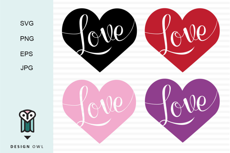 Download Love hearts SVG PNG EPS JPG By Design Owl | TheHungryJPEG.com