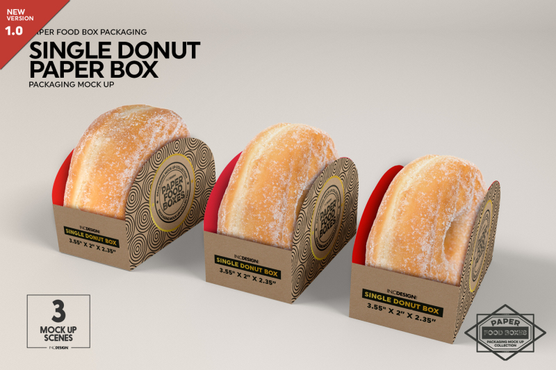 This directory offers you the best free packaging mockups: Download Single Donut Box Packaging Mockup Psd Mockup Book Mockup Psd File Download Psd Mockups Free Download
