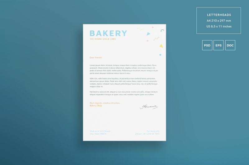 Download Bakery Mockup Psd Free Download Yellow Images